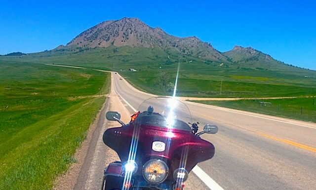 Motorcyle with view