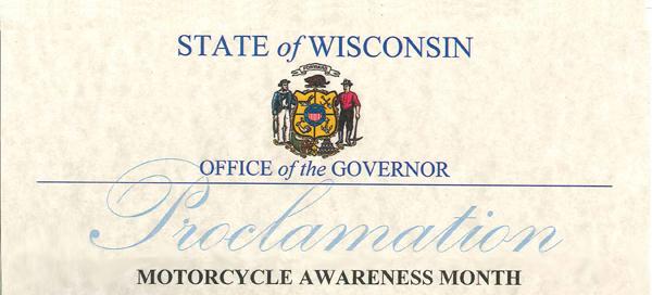 Wisconsin Motorcycle Awareness Month
