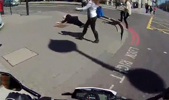 Good Samaritan helps person who fell