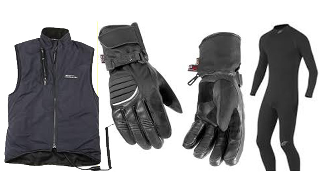 Warm motorcycle riding gear
