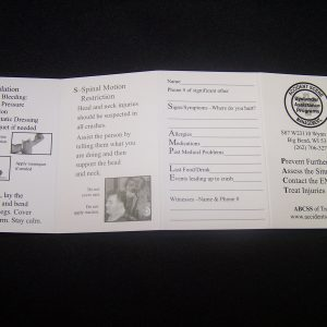 Accident Scene Management PACT pamphlet