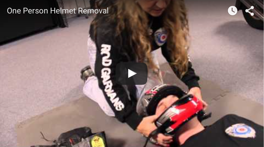 One Person Helmet Removal