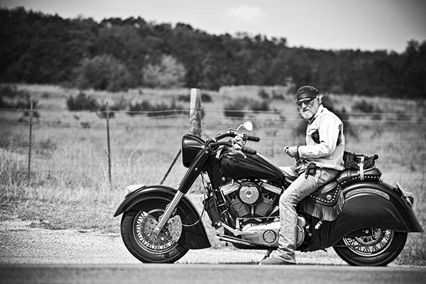 Motorcycle on Shoulder