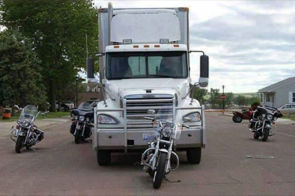Semi Blind Spots with Motorcycles