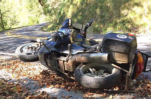 Crashed Motorcycle
