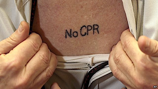 No CPR tattoo
